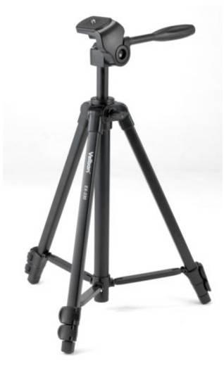 Dreibeinstativ Velbon V30176 Arbeitshöhe=122 cm (max) Schwarz inkl. Tasche