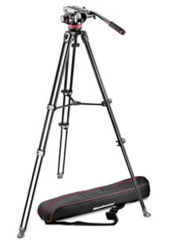 Dreibeinstativ Manfrotto MVK502AM-1 1/4 Zoll, 3/8 Zoll Arbeitshöhe=70.5 - 156 cm Schwarz inkl. Tasche