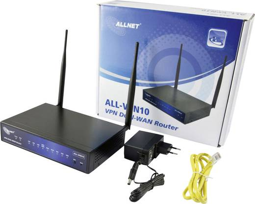 VPN Router 100 MBit/s Allnet ALL-VPN10 VPN/Firewall WLAN-WAN Router