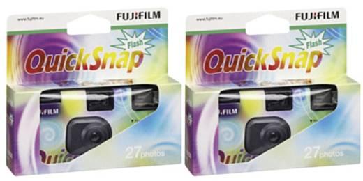 Einwegkamera Fujifilm Quicksnap Flash 27 2 St. mit eingebautem Blitz