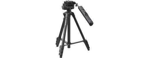 Dreibeinstativ Sony VCTVPR1.CE7 Arbeitshöhe=43.5 - 146.5 cm Schwarz inkl. Tasche