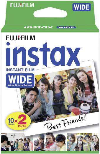 Sofortbild-Film Fujifilm 1x2 Instax Film WIDE