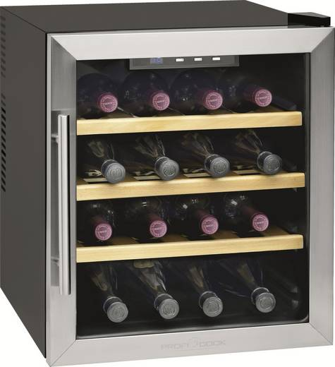 Weinkühlschrank 46 l Profi Cook PC-WC1047 Energieeffizienzklasse (A+++ - D): A Edelstahl, Schwarz