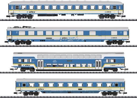 """MiniTrix T15390 N 4er-Set Personenwagen """"ALEX"""" der ARRIVA"""