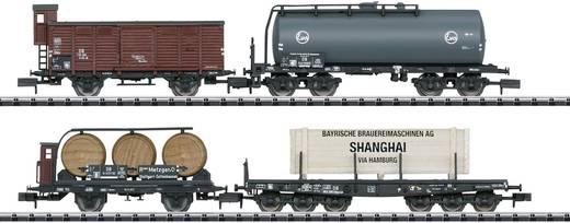 MiniTrix T15421 N 4er-Set Güterwagen Tor zur Welt der DB