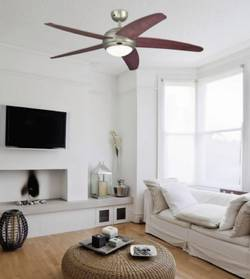 Ceiling fan in living area