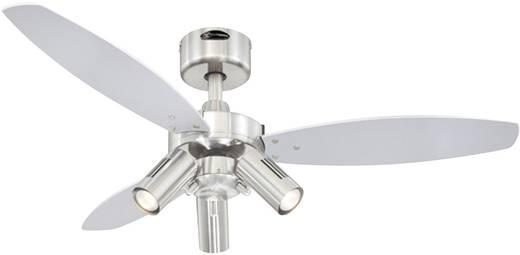 Westinghouse JET PLUS Deckenventilator (Ø) 105 cm Flügelfarbe: Wenge, Silber Gehäusefarbe: Nickel (gebürstet)