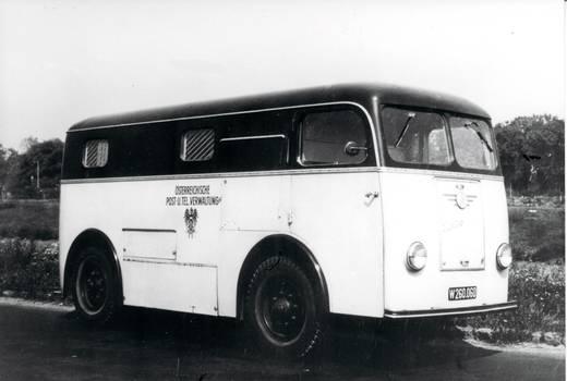 H0 ENO 2 Paketwagen mit schwarzem Oberteil