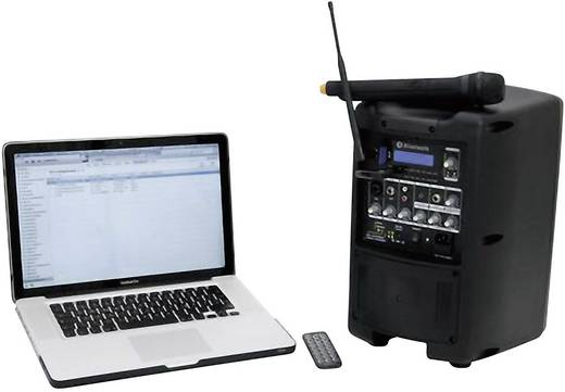 Mobiler PA Lautsprecher 20 cm 8 Zoll Omnitronic WAMS-08BT akkubetrieben 1 St.