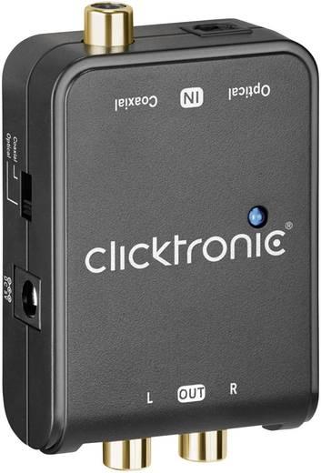 AV Konverter [Cinch-Digital, Toslink - Cinch] clicktronic DAC-200