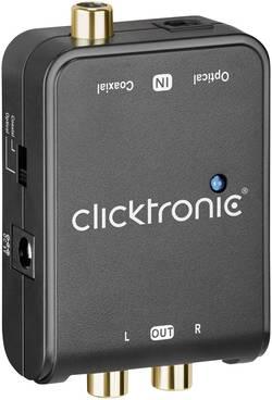 Image of AV Konverter [Cinch-Digital, Toslink - Cinch] clicktronic DAC-200