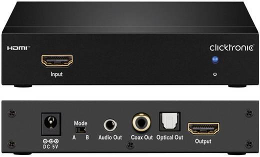 Audio Extraktor [HDMI - HDMI, Toslink, Cinch-Digital, Klinke] 1920 x 1080 Pixel clicktronic Extracteur audio HDMI