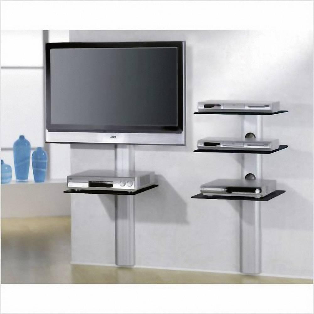 vcm morgenthaler trento 3 tv wand board silber transparent glas im conrad online shop 1082603. Black Bedroom Furniture Sets. Home Design Ideas