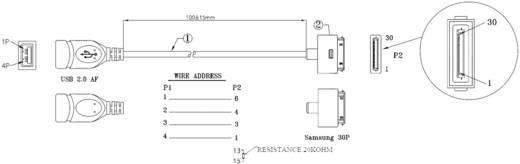 Renkforce USB 2.0 Kabel [1x Samsung Stecker - 1x USB 2.0 Buchse A] 0.1 m Schwarz mit OTG-Funktion, vergoldete Steckkonta