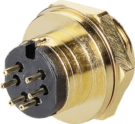 Miniatur-DIN-Rundsteckverbinder Buchse, Einbau vertikal Polzahl: 6 Gold BKL Electronic 0202126 1 St.