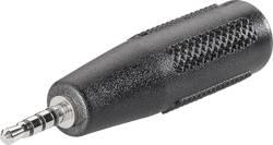 Adaptér jack BKL Electronic 1102056, jack zástrčka 2,5 mm - jack zásuvka 3,5 mm, stereo, Pólů: