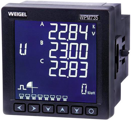 Weigel WPM 735 E-H-T-AO-V3 Netz-Analysegerät, Netzanalysator, 6790006