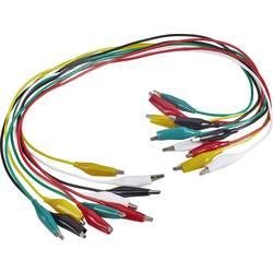 Meracie káble - sada krokosvoriek VOLTCRAFT KS-540/0.5, 0.54 m, čierna, červená, žltá, zelená, biela