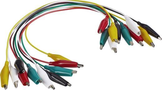 Messleitungs-Set 0.28 m Schwarz, Rot, Gelb, Grün, Weiß VOLTCRAFT KS-280/0.1