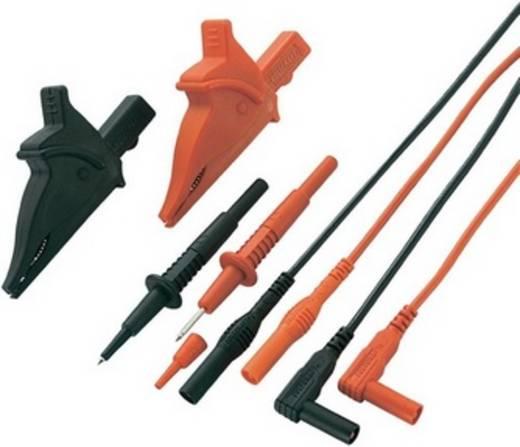 Sicherheits-Messleitungs-Set [ Lamellenstecker 4 mm - Lamellenstecker 4 mm] 1.2 m Schwarz, Rot VOLTCRAFT MS-5
