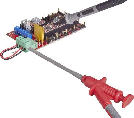 Sicherheits-Messleitungs-Set [ Lamellenstecker 4 mm - Lamellenstecker 4 mm] 1.2 m Schwarz, Rot VOLTCRAFT MS-6