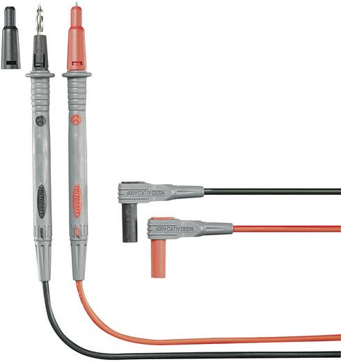 Sicherheits-Messleitungs-Set [ Lamellenstecker 4 mm - Prüfspitze] 1.20 m Schwarz, Rot VOLTCRAFT MS-4P