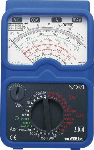 Metrix MX1 Hand-Multimeter analog Kalibriert nach: Werksstandard (ohne Zertifikat) Strahlwassergeschützt (IP65) CAT II 1