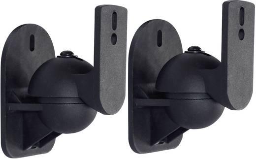 Lautsprecher-Wandhalterung Schwenkbar Wandabstand (max.): 7 cm Dynavox 206921 Schwarz 1 Paar
