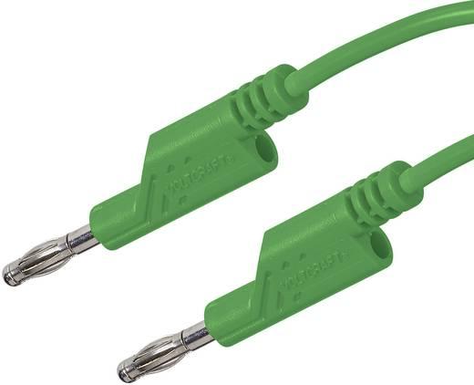 Messleitung [Lamellenstecker 4 mm - Lamellenstecker 4 mm] 1 m Grün VOLTCRAFT