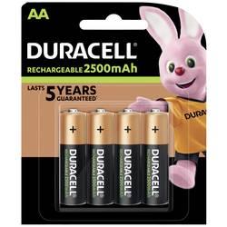 Tužkový akumulátor typu AA Ni-MH Duracell PreCharged HR06 DUR057043, 2500 mAh, 1.2 V, 4 ks