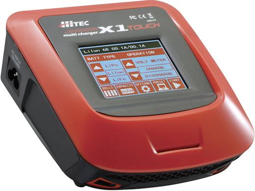 Modellbau-Multifunktionsladegerät 110 V, 220 V 7 A Hitec X1 Touch NiMH, NiCd, LiPo, LiIon, LiFePO
