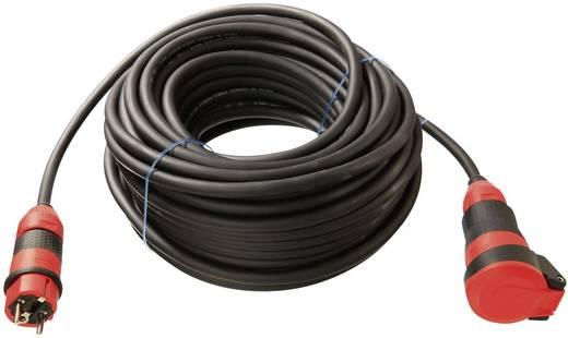 Strom Verlängerungskabel [ Schutzkontakt-Stecker - Schutzkontakt-Kupplung] Schwarz 10 m as - Schwabe 62250