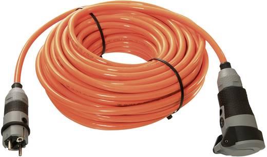 Strom Verlängerungskabel [ Schutzkontakt-Stecker - Schutzkontakt-Kupplung] Orange 10 m as - Schwabe 62262