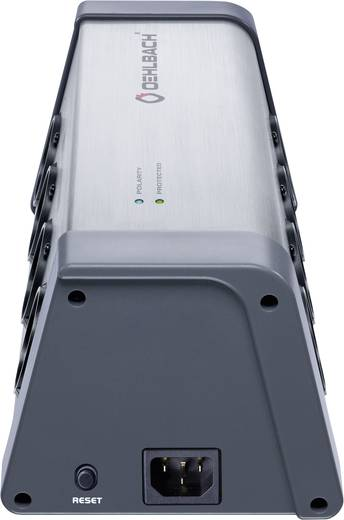 Überspannungsschutz-Steckdosenleiste 8fach Silber, Grau Schutzkontakt Oehlbach 13040