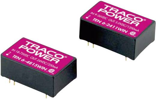 DC/DC-Wandler, Print TracoPower TEN 6-2423WIN 24 V/DC 15 V/DC, -15 V/DC 200 mA 6 W Anzahl Ausgänge: 2 x