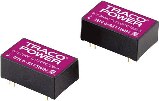 DC/DC-Wandler, Print TracoPower TEN 6-4812WIN 48 V/DC 12 V/DC 500 mA 6 W Anzahl Ausgänge: 1 x