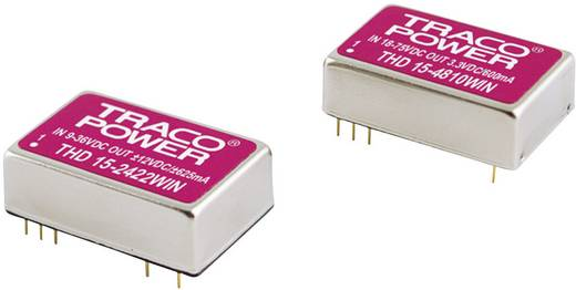 DC/DC-Wandler, Print TracoPower THN 15-2423WI 24 V/DC 15 V/DC, -15 V/DC 500 mA 15 W Anzahl Ausgänge: 2 x