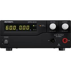 Laboratorní zdroj s nastavitelným napětím VOLTCRAFT DPPS-60-8, 1 - 60 V/DC, 0 - 8 A, 480 W;Kalibrováno dle ISO