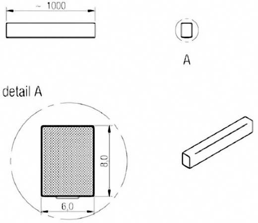 Dichtband WE-LT (L x B x H) 1000 x 6 x 8 mm Würth Elektronik 3020608 1 Rolle(n)