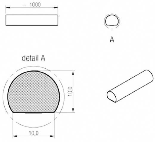 Dichtband WE-LT (L x B x H) 1000 x 10 x 10 mm Würth Elektronik 3031010 1 Rolle(n)