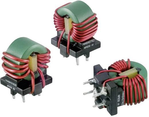 Drossel Ringkern, sektionell radial bedrahtet Rastermaß 10 mm 100 µH 80 mΩ 1.5 A Würth Elektronik WE-CMB 744841210 1 S