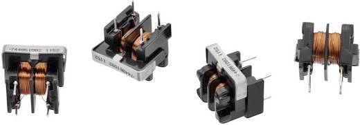 Drossel Ringkern, horizontal radial bedrahtet Rastermaß 8 mm 12000 µH 2000 mΩ 0.4 A Würth Elektronik WE-TFCH 744861120
