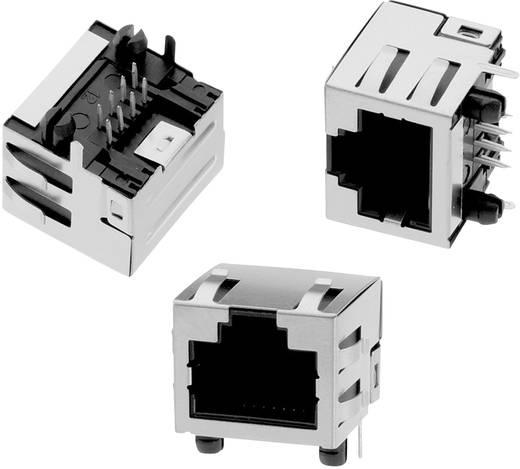 Modular Jack Tab Up liegend geschirmt mit EMI-Finger 8P8C WR-MJ Buchse, Einbau horizontal Pole: 8P8C Schwarz Würth Ele