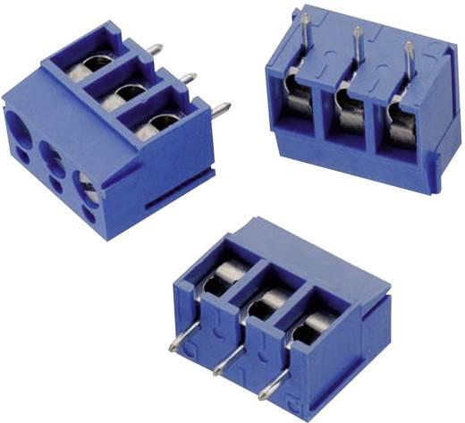 Schraubklemmblock 2.08 mm² Polzahl 3 WR-TBL 101 Würth Elektronik Blau 1 St.