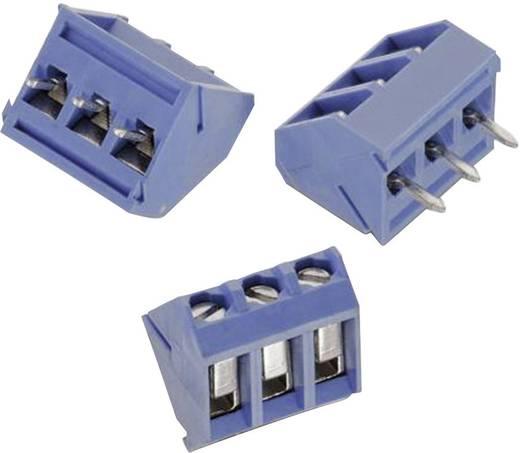 Schraubklemmblock 3.31 mm² Polzahl 3 WR-TBL 201 Würth Elektronik Blau 1 St.