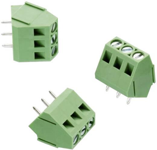Schraubklemmblock 3.31 mm² Polzahl 3 WR-TBL 211 Würth Elektronik Grün 1 St.