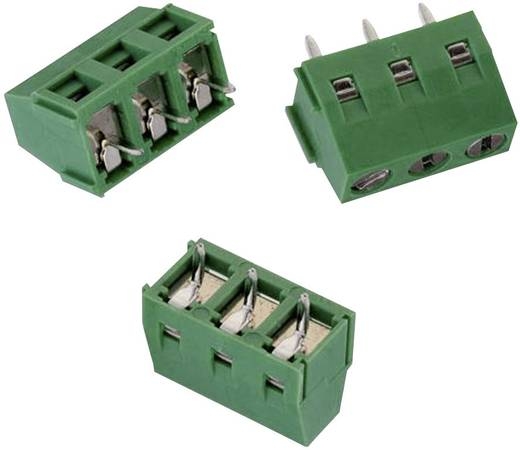 Schraubklemmblock 1.31 mm² Polzahl 3 WR-TBL 213 Würth Elektronik Grün 1 St.