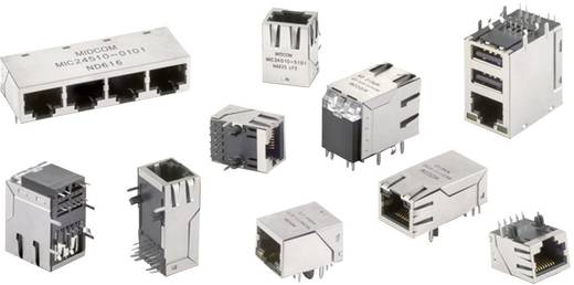 RJ45-Einbaubuchse Buchse, Einbau horizontal Pole: 8 WE-RJ45 LAN Vernickelt, Metall Würth Elektronik 7499611421 1 St.