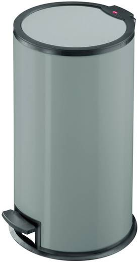 Mülleimer 16 l Hailo T3 M (Ø x H) 275 mm x 500 mm Silber Fuß-Tretmechanik 1 St.