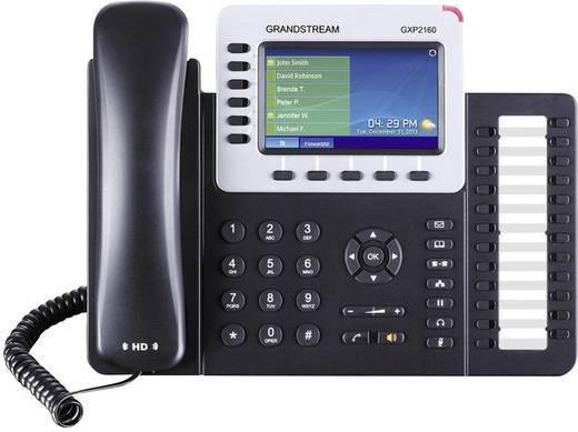 Systemtelefon,VoIP Grandstream GXP-2160 Bluetooth, Headsetanschluss Farbdisplay Schwarz, Silber